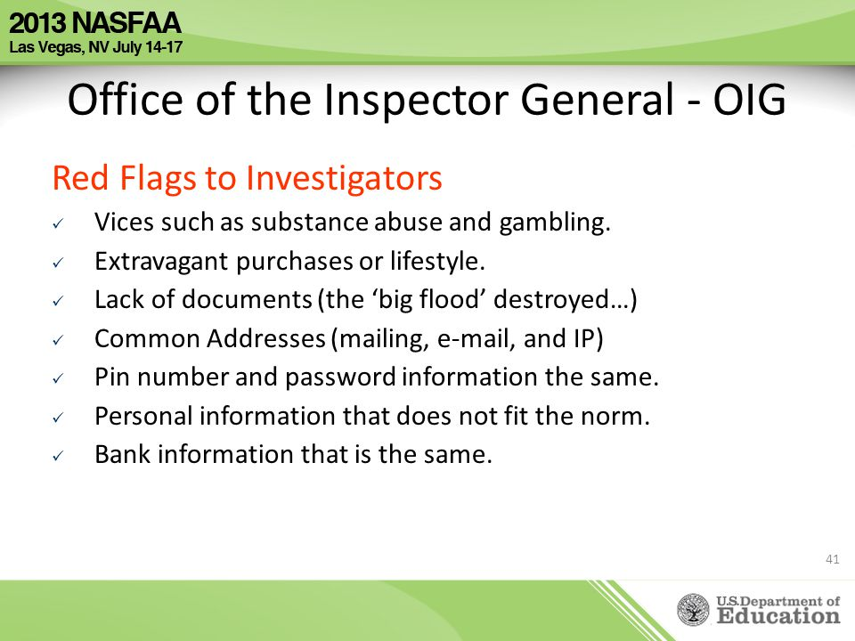 Office of the Inspector General - OIG