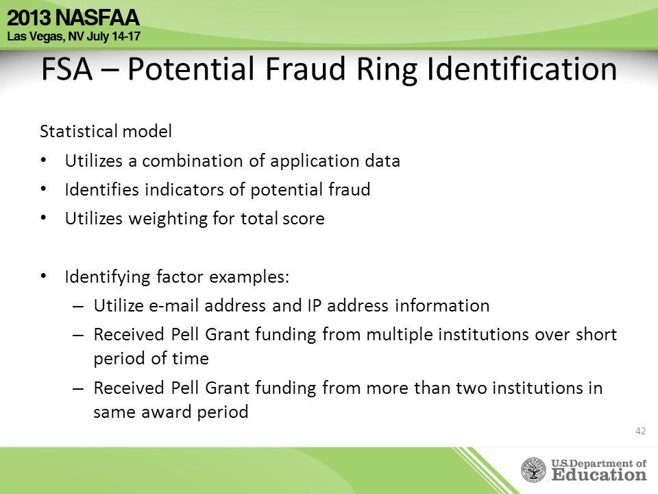 FSA – Potential Fraud Ring Identification