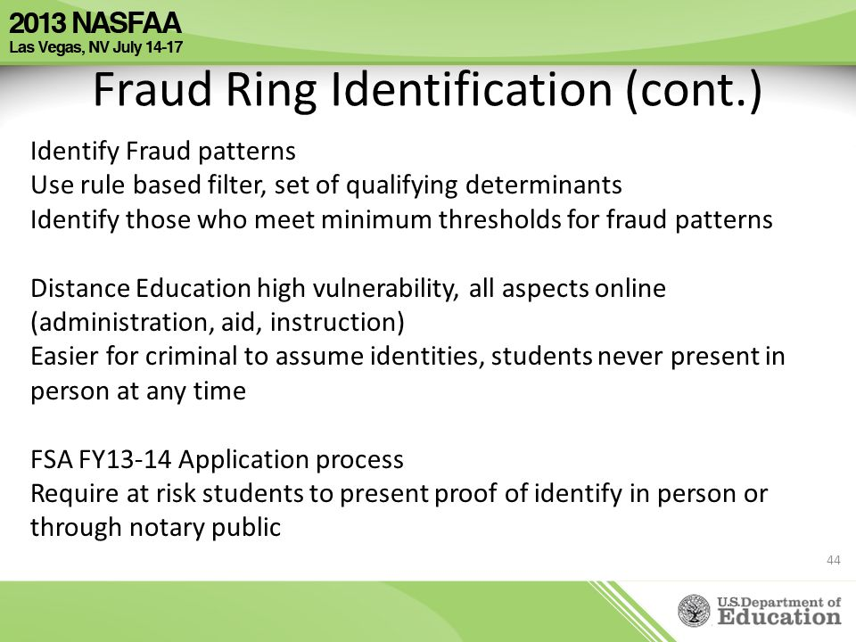 Fraud Ring Identification (cont.)