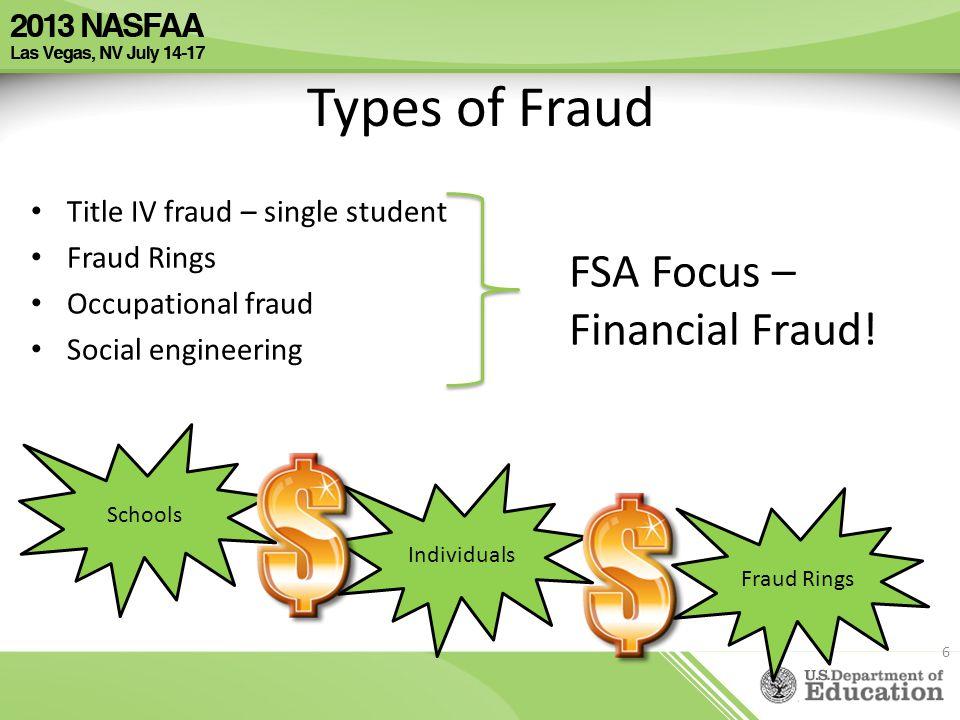 Types of Fraud FSA Focus – Financial Fraud!