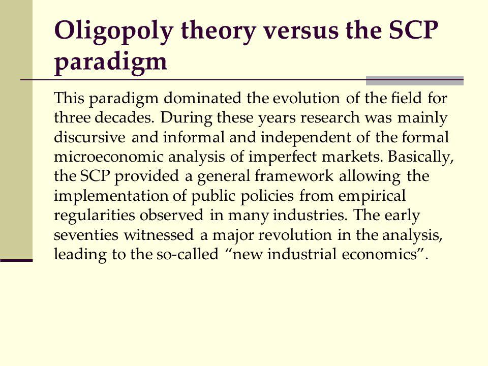 Oligopoly theory versus the SCP paradigm