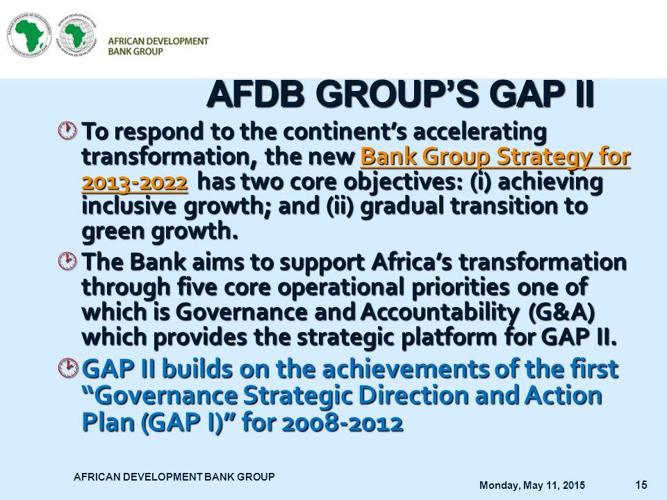AFDB GROUP'S GAP II