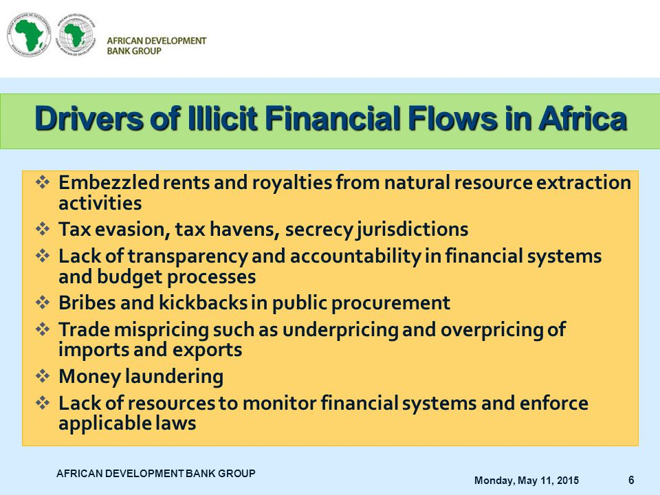Drivers of Illicit Financial Flows in Africa