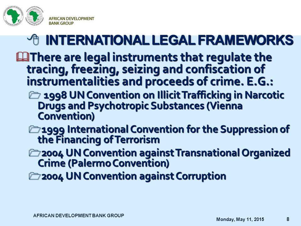 INTERNATIONAL LEGAL FRAMEWORKS
