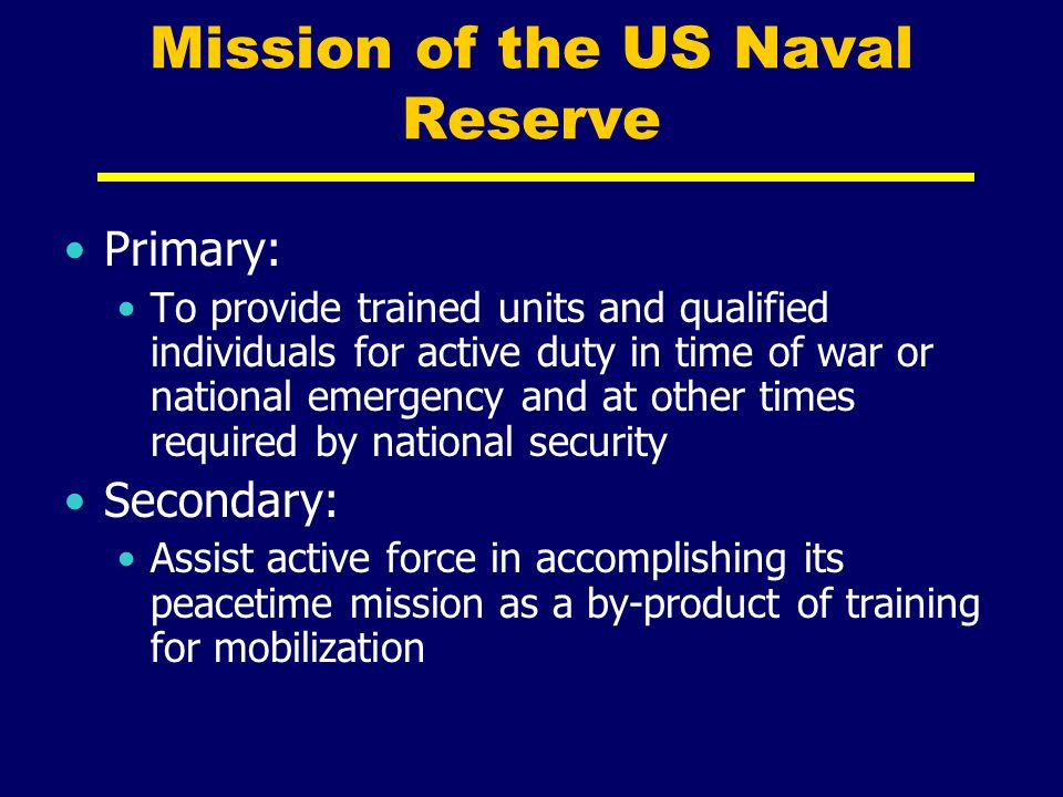 Mission of the US Naval Reserve