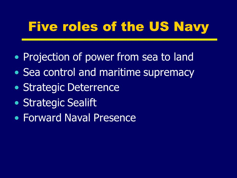 Five roles of the US Navy