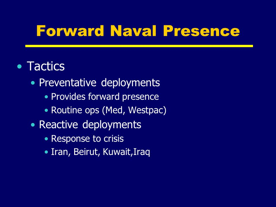 Forward Naval Presence