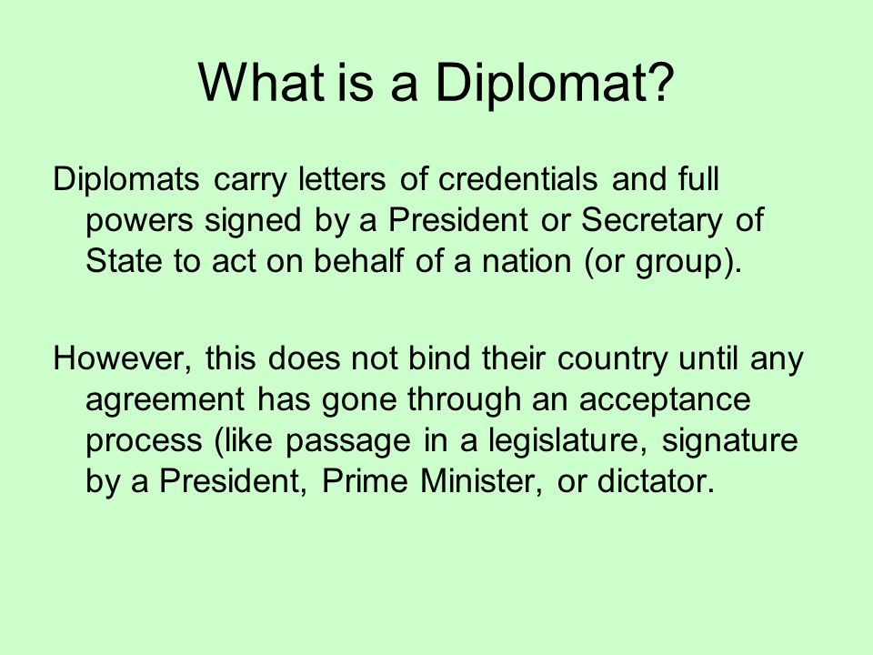 What is a Diplomat