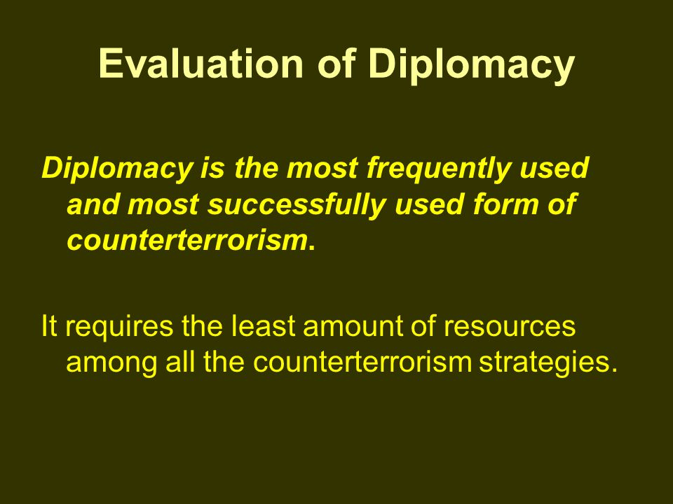 Evaluation of Diplomacy