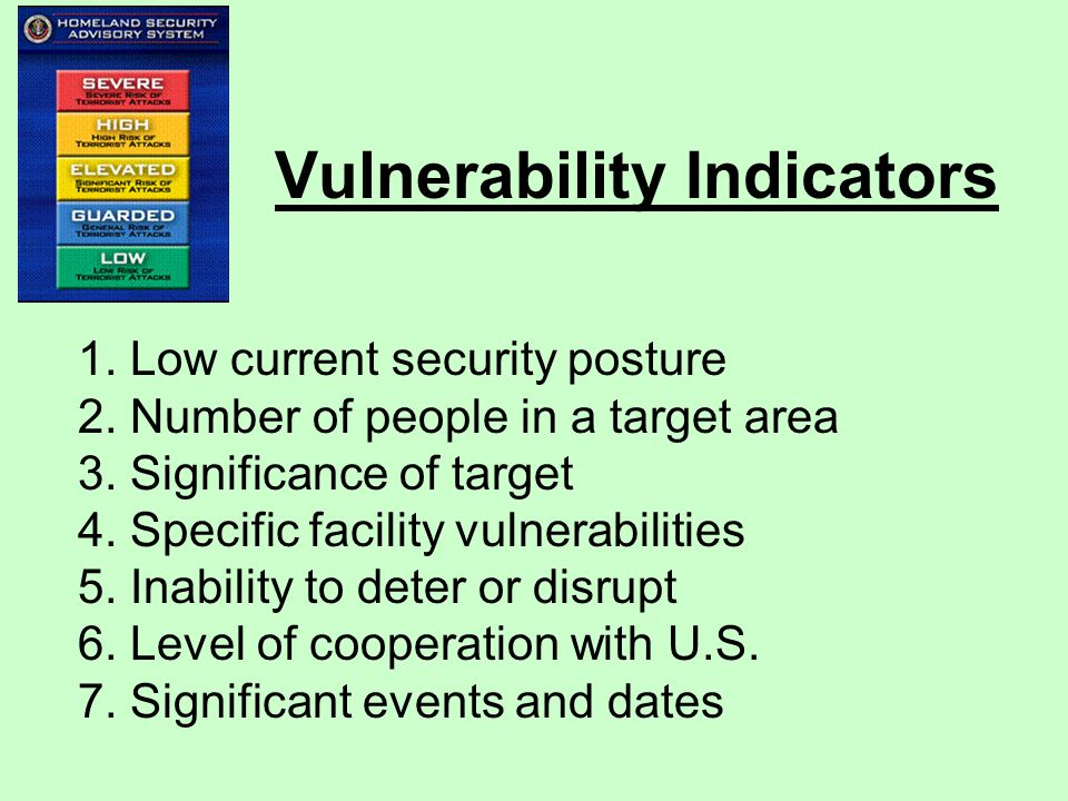 Vulnerability Indicators