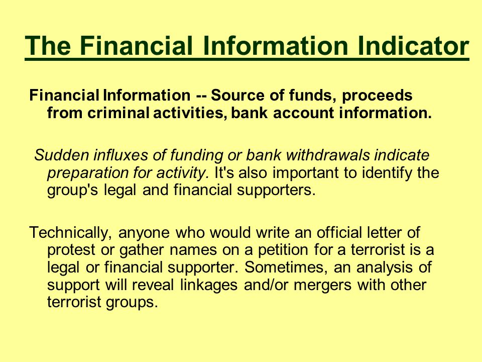The Financial Information Indicator