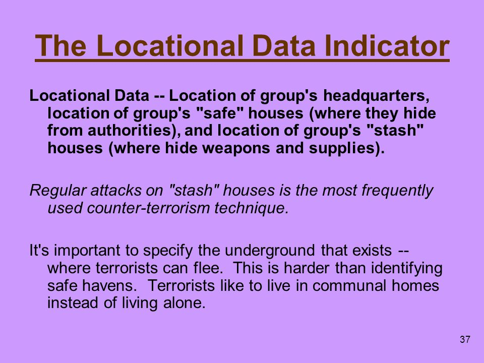 The Locational Data Indicator