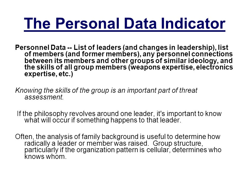 The Personal Data Indicator