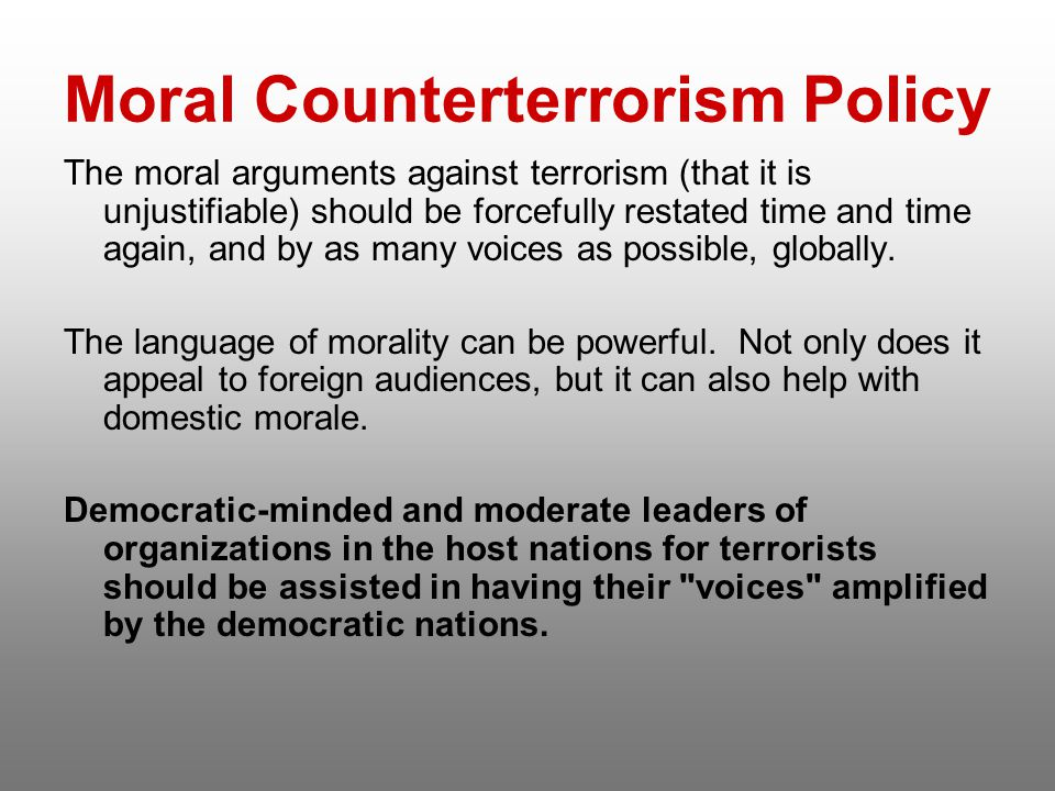 Moral Counterterrorism Policy