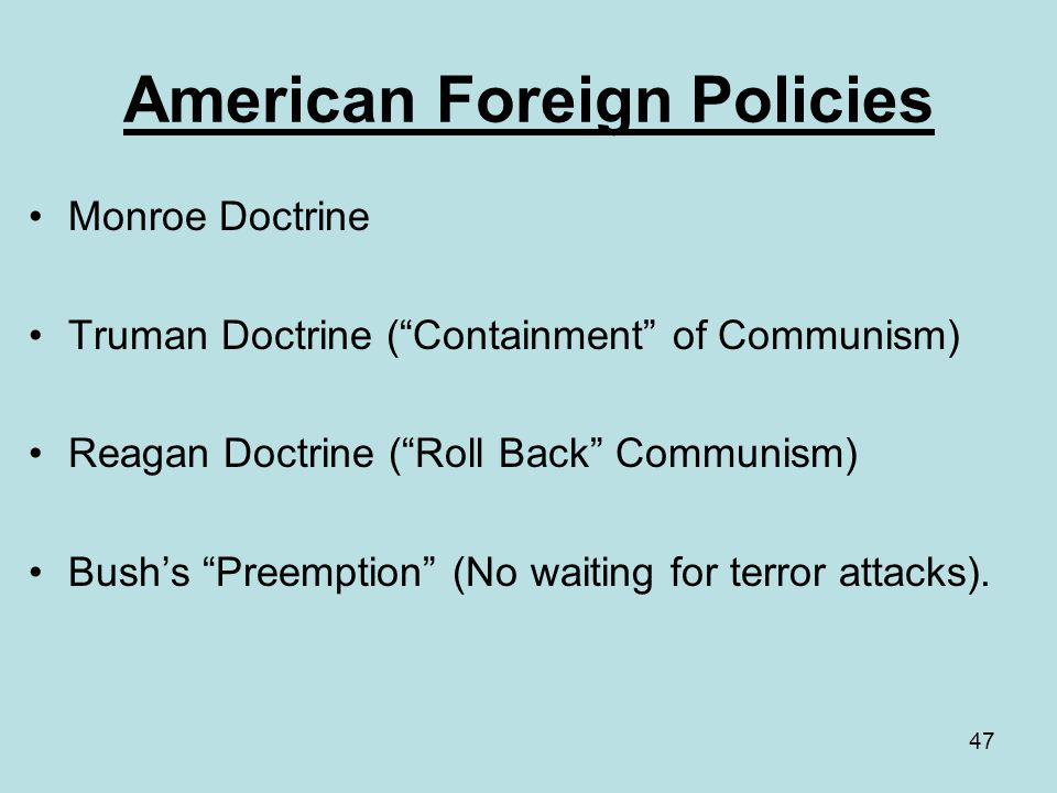 American Foreign Policies