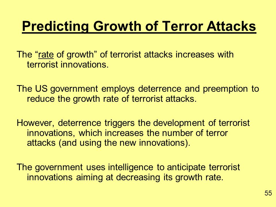 Predicting Growth of Terror Attacks