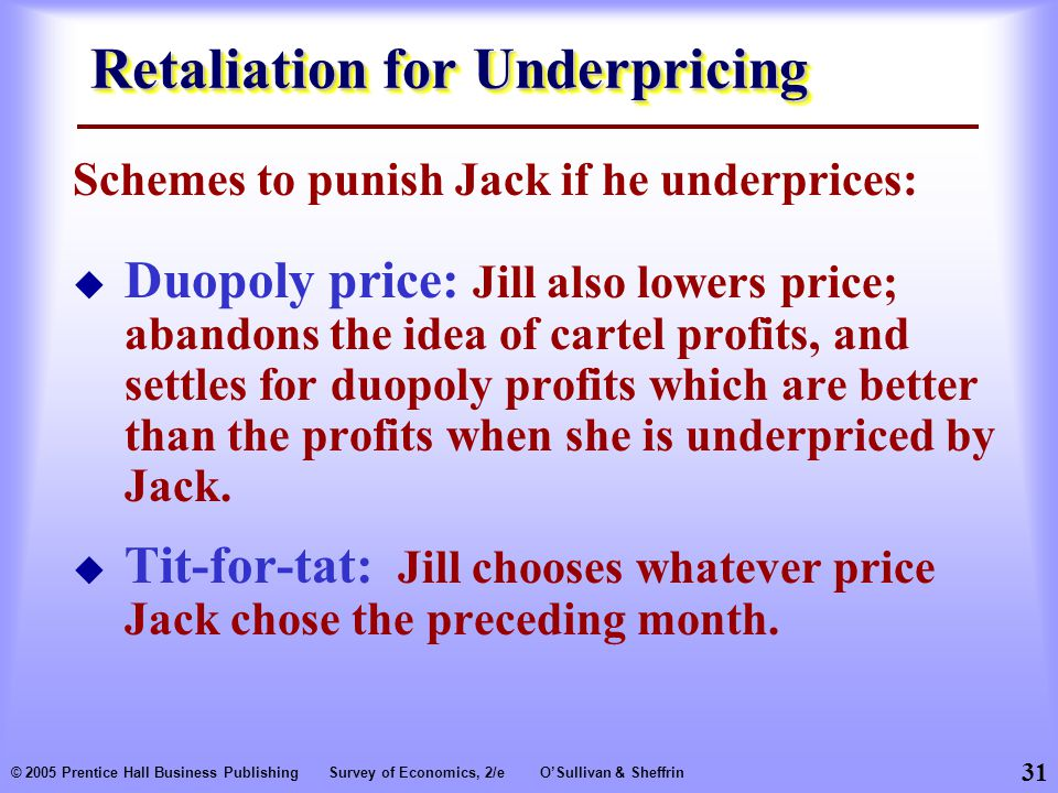Retaliation for Underpricing