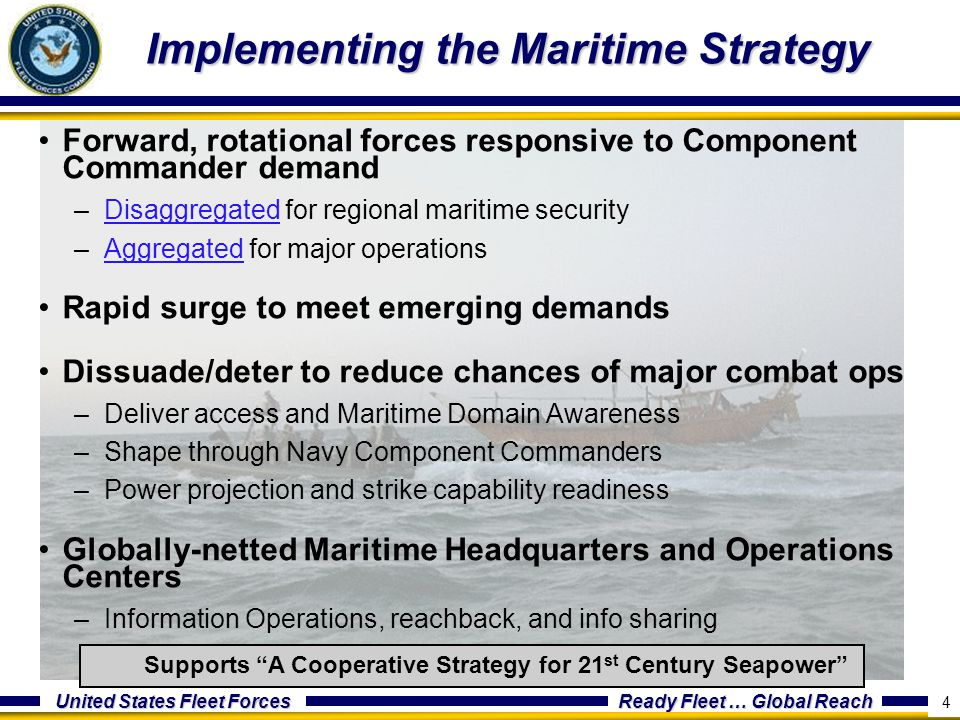 Implementing the Maritime Strategy