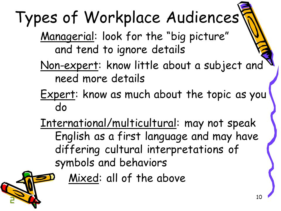 Types of Workplace Audiences