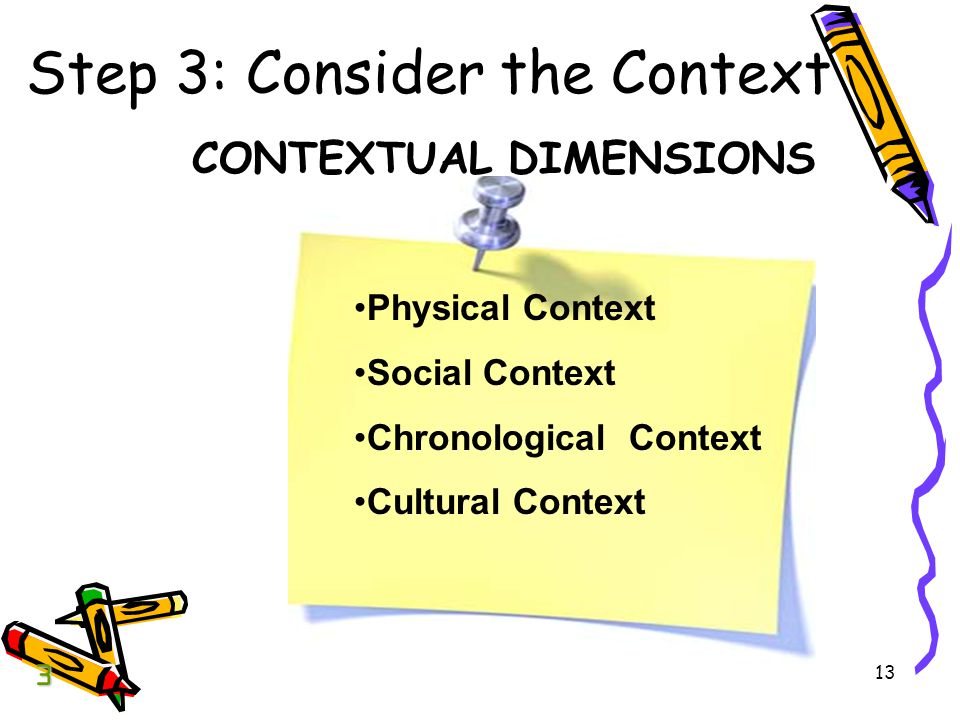 Step 3: Consider the Context