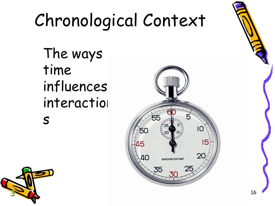 Chronological Context