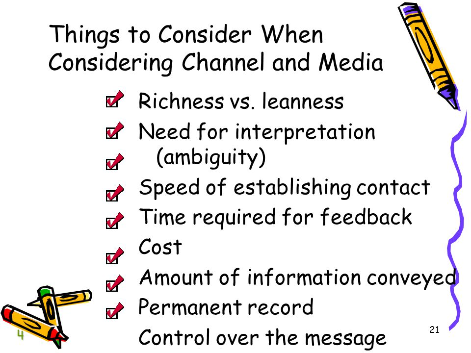 Things to Consider When Considering Channel and Media