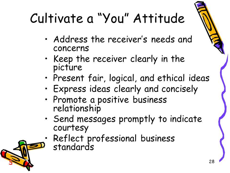 Cultivate a You Attitude