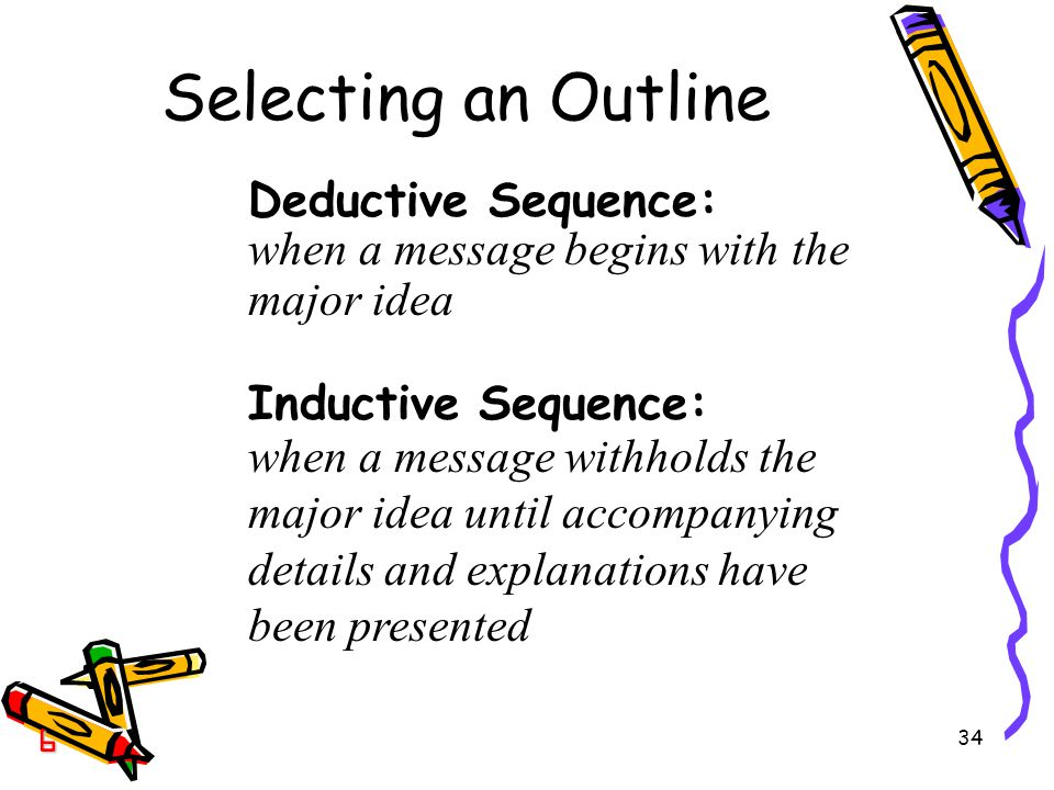 Selecting an Outline Deductive Sequence: