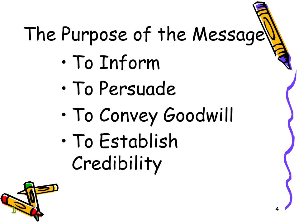 The Purpose of the Message