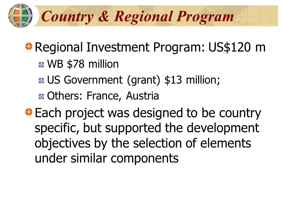 Country & Regional Program