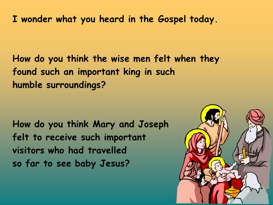 I wonder what you heard in the Gospel today.