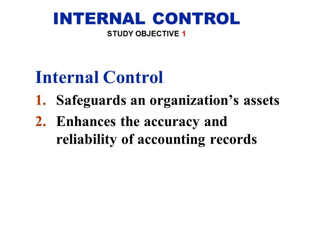 Internal Control INTERNAL CONTROL Safeguards an organization's assets