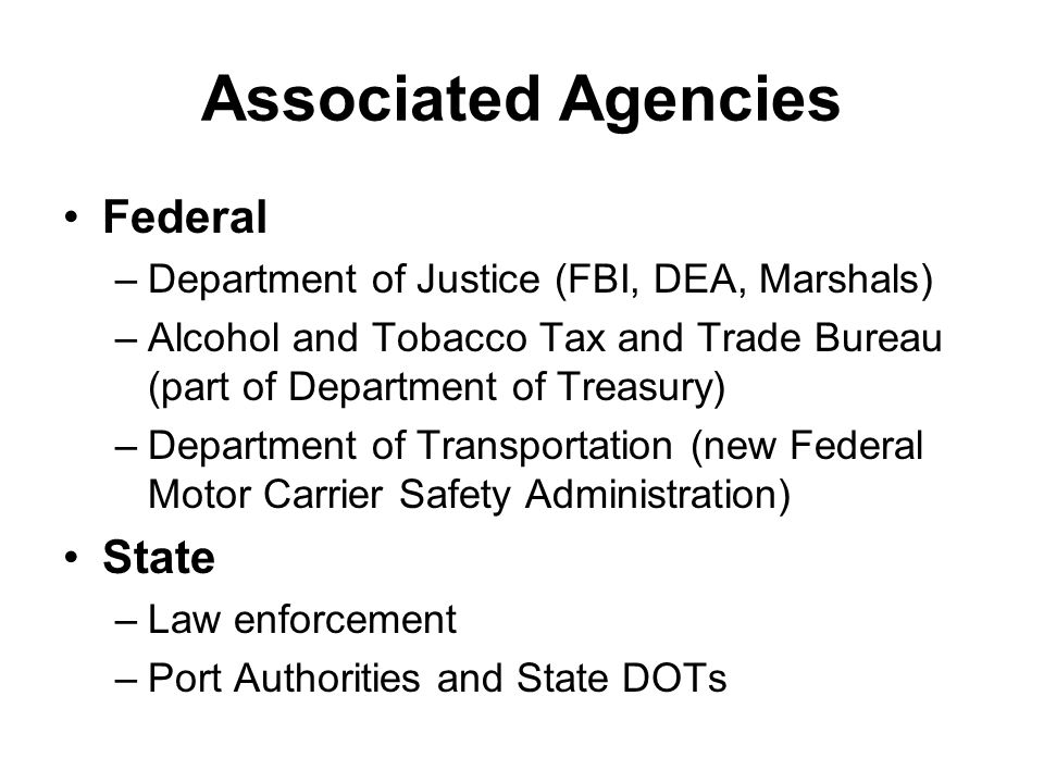 Associated Agencies Federal State