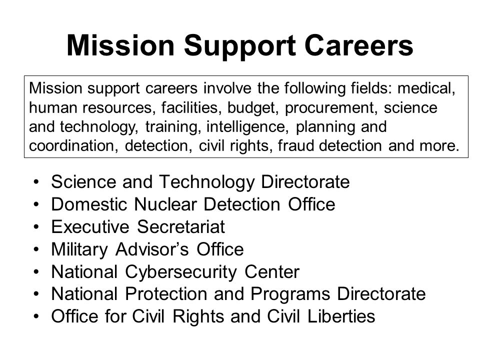 Mission Support Careers