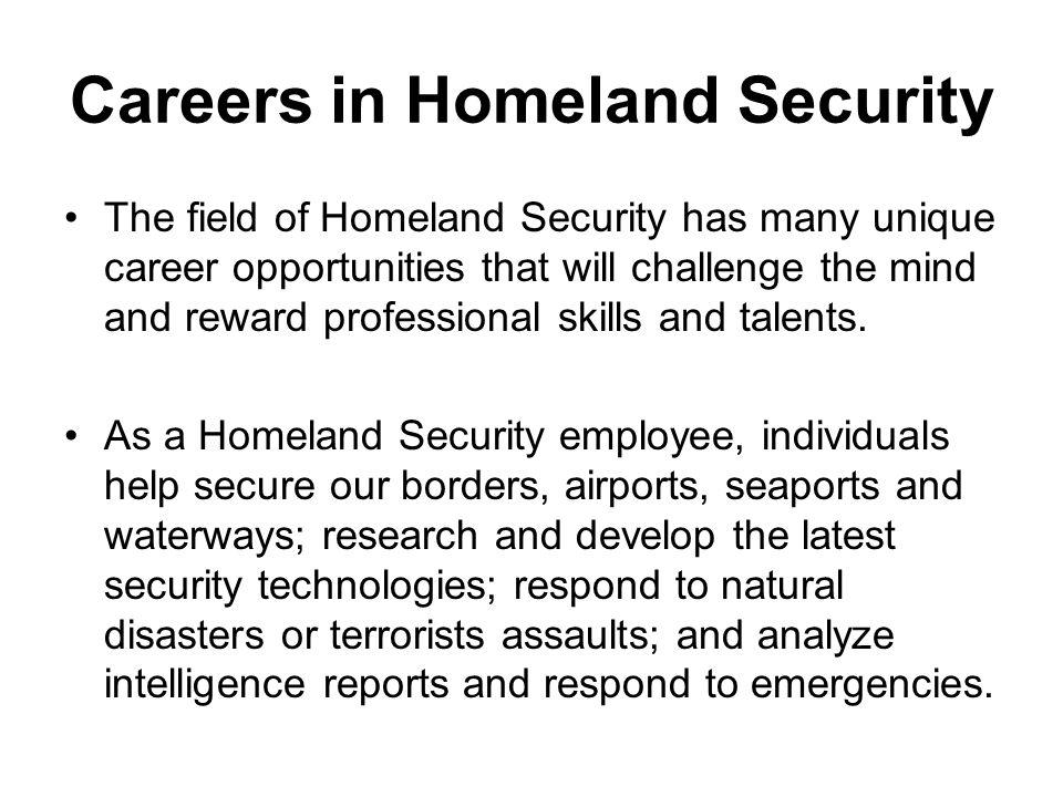 Careers in Homeland Security
