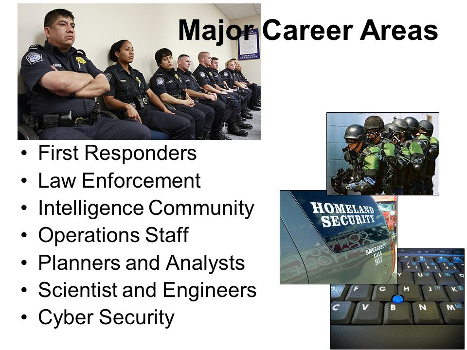 Major Career Areas First Responders Law Enforcement