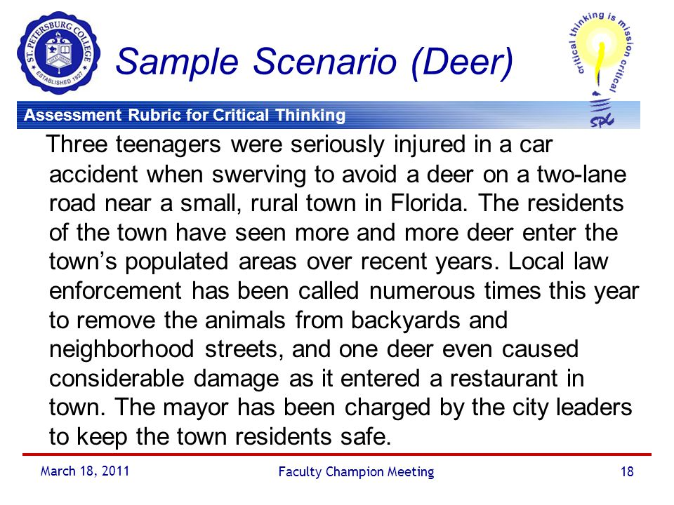Sample Scenario (Deer)