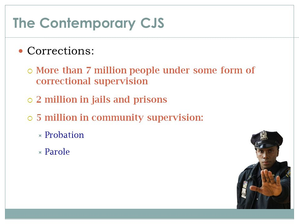 The Contemporary CJS Corrections: