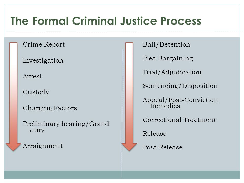 The Formal Criminal Justice Process