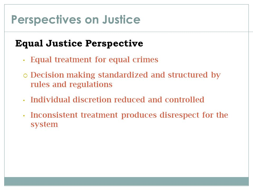 Perspectives on Justice