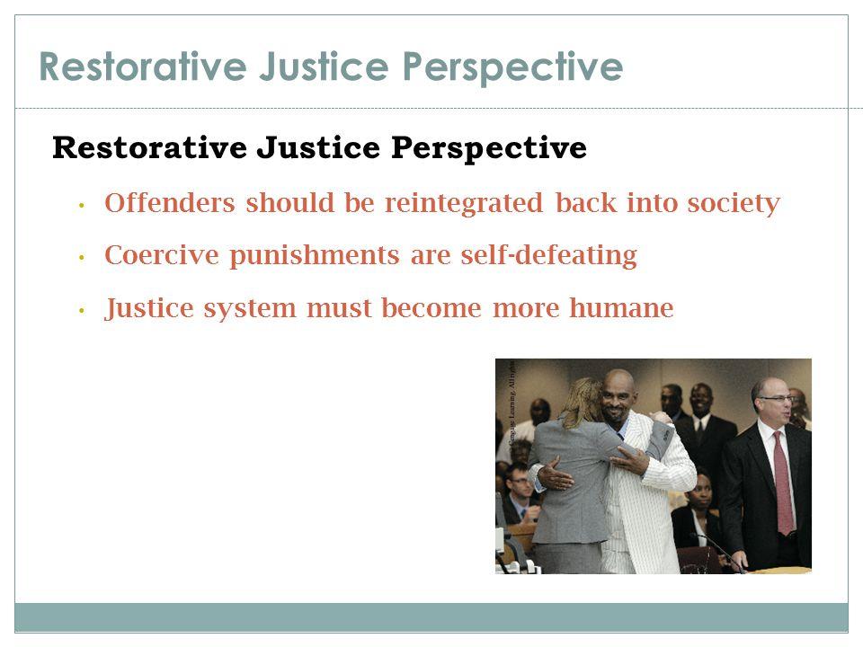 Restorative Justice Perspective