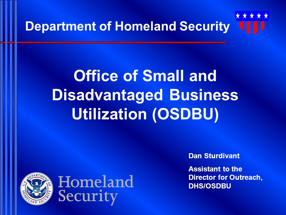 Office of Small and Disadvantaged Business Utilization (OSDBU)