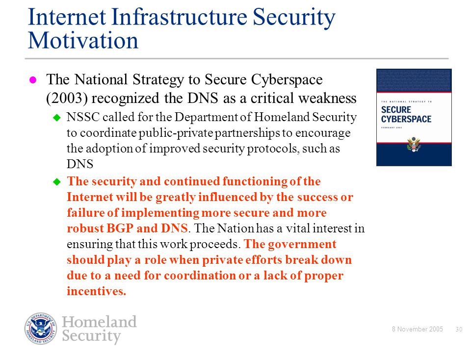 Internet Infrastructure Security Motivation