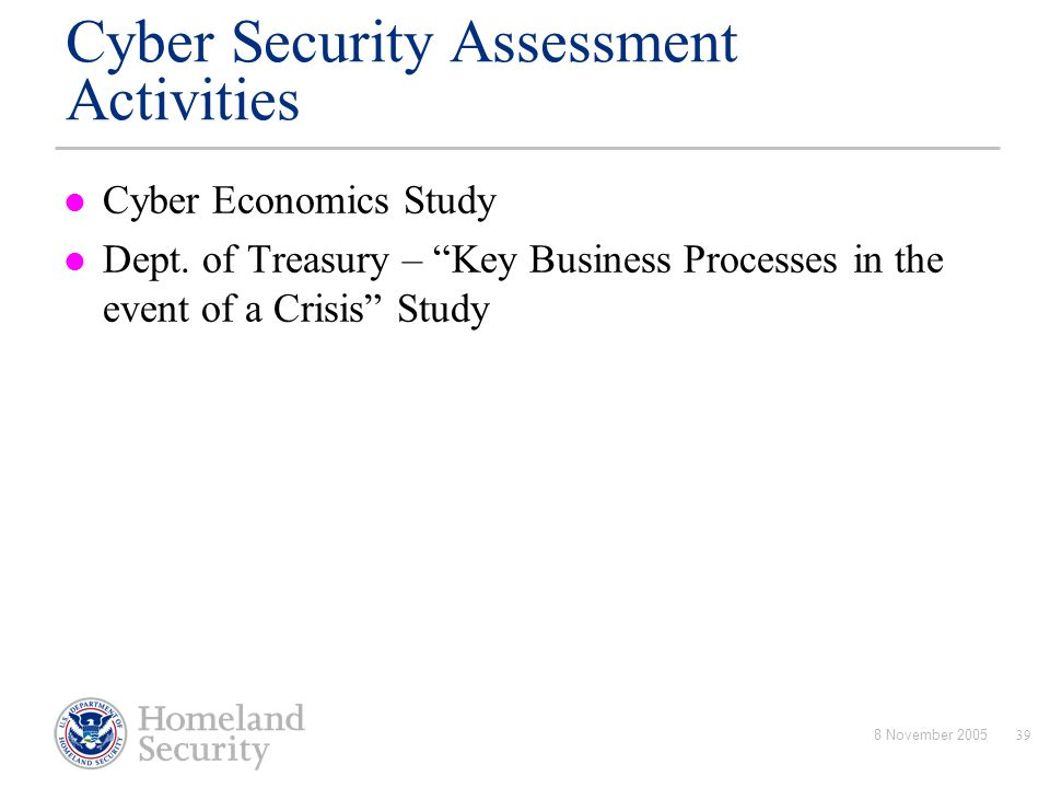 Cyber Security Assessment Activities