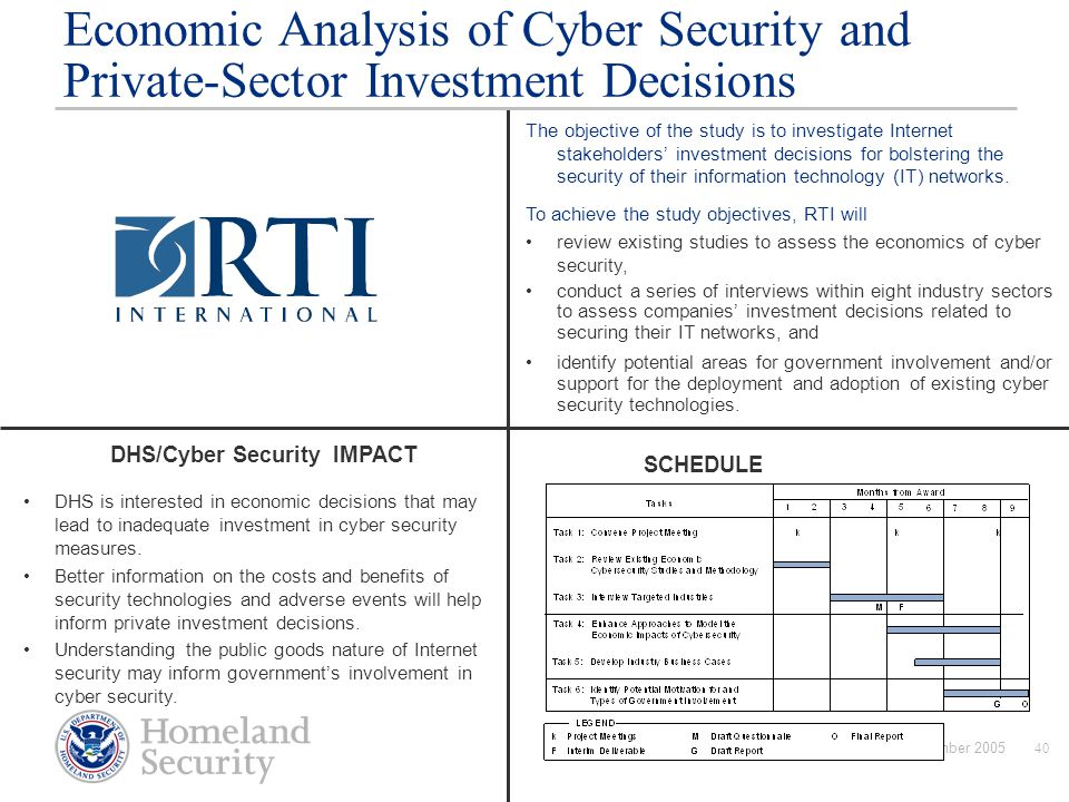 DHS/Cyber Security IMPACT