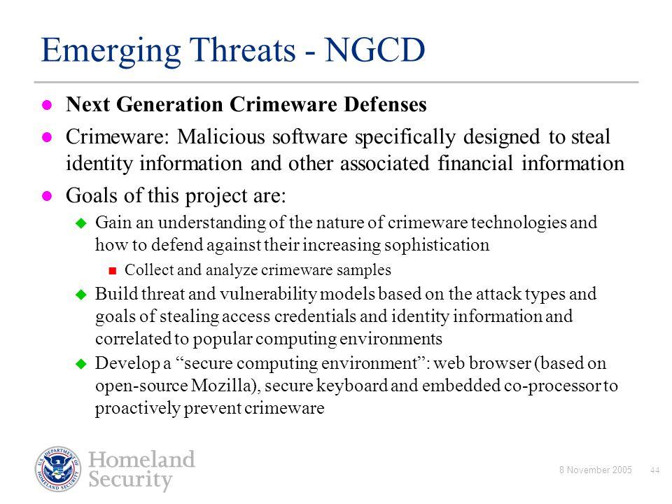 Emerging Threats - NGCD