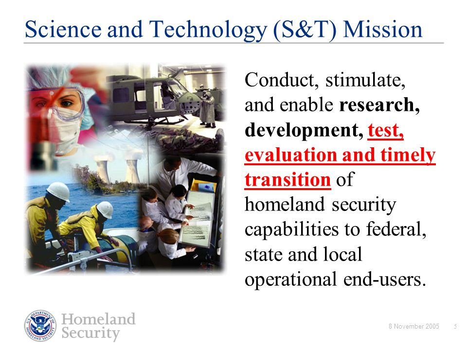Science and Technology (S&T) Mission