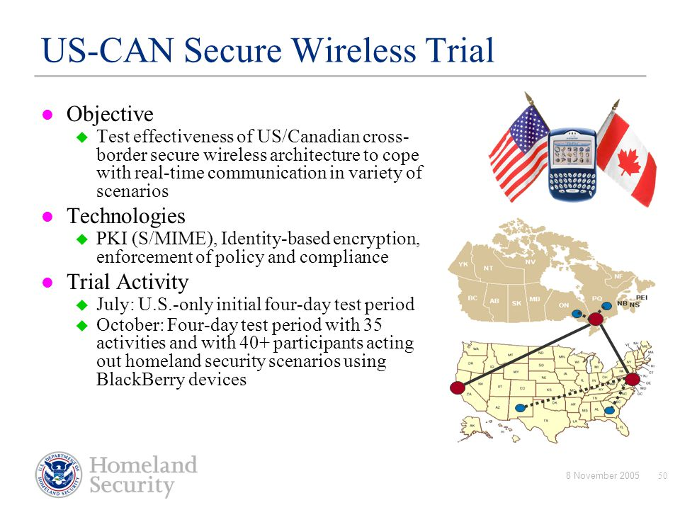 US-CAN Secure Wireless Trial