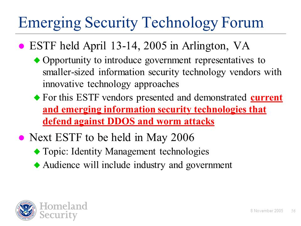 Emerging Security Technology Forum