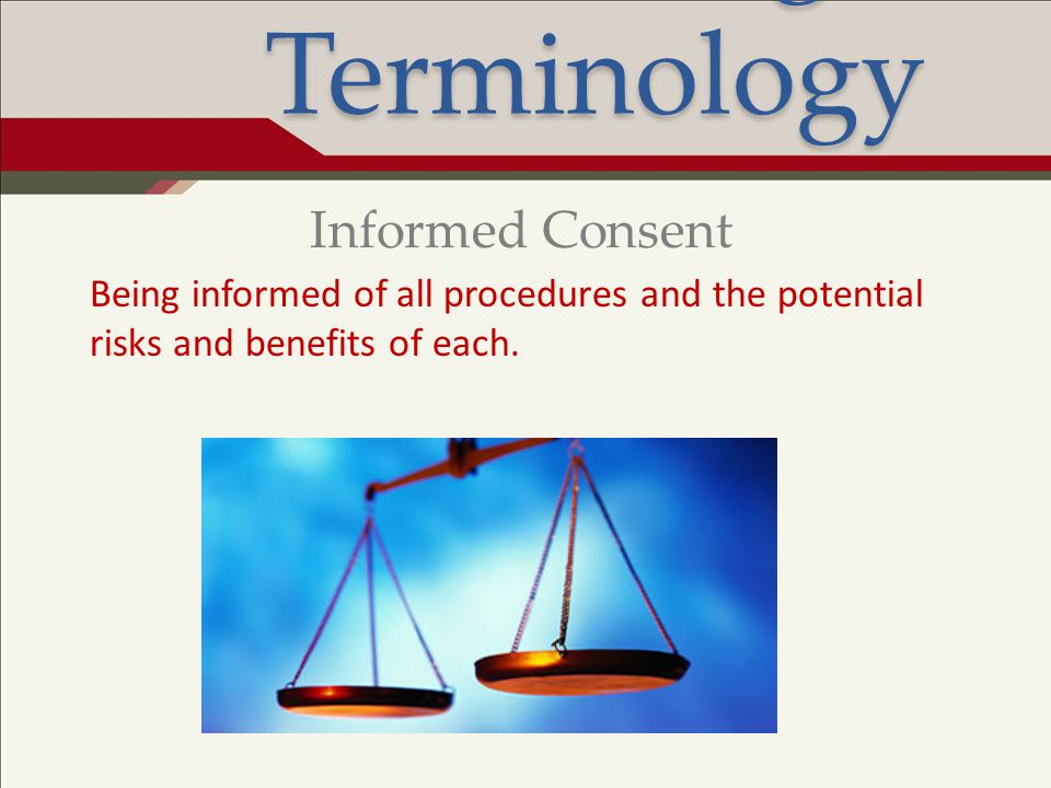 Legal Terminology Informed Consent